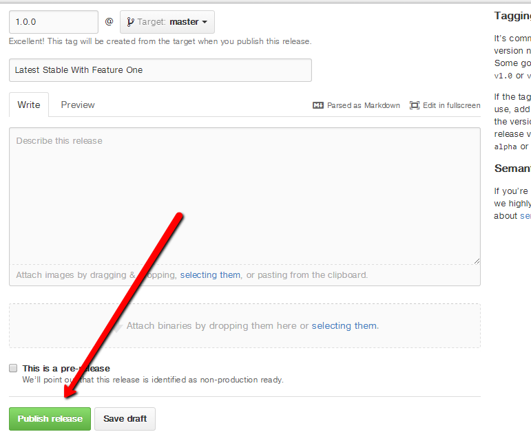 """Git Hub Publish Release"""