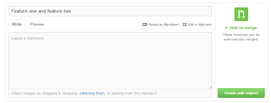 """""""GitHub Pull Request Comment"""""""